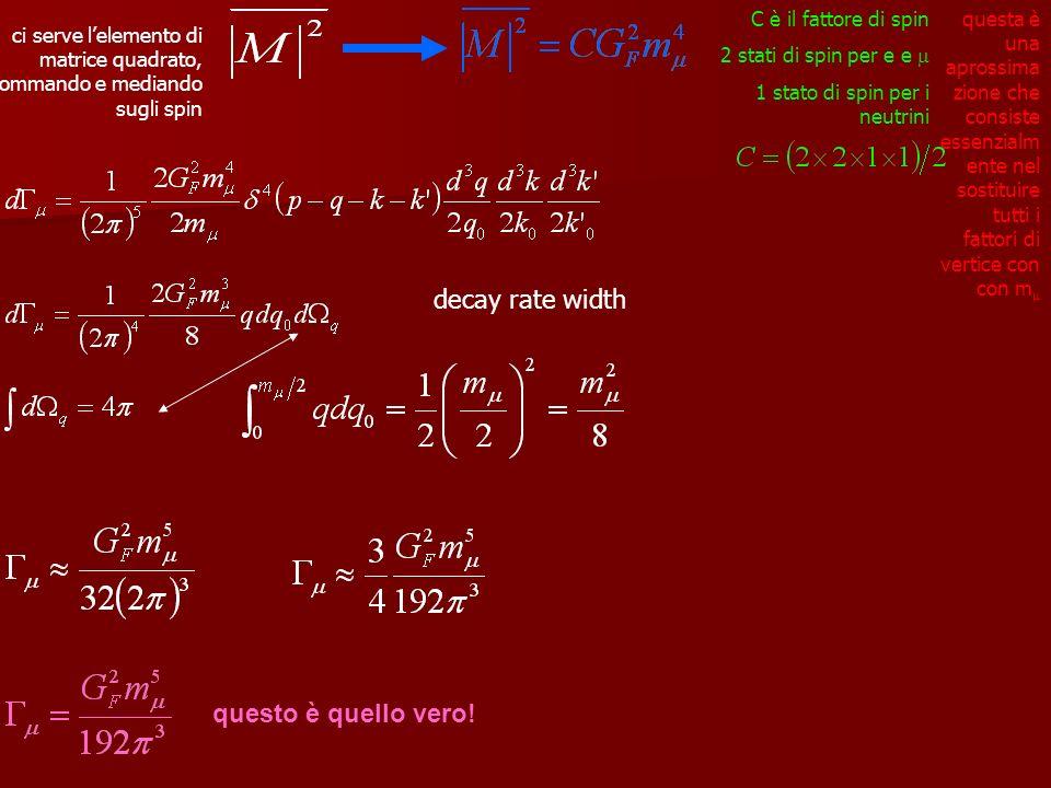 decay rate width questo è quello vero!