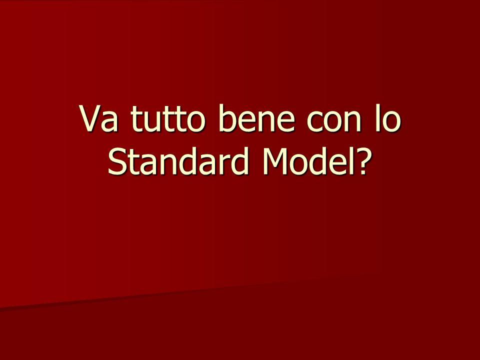 Va tutto bene con lo Standard Model
