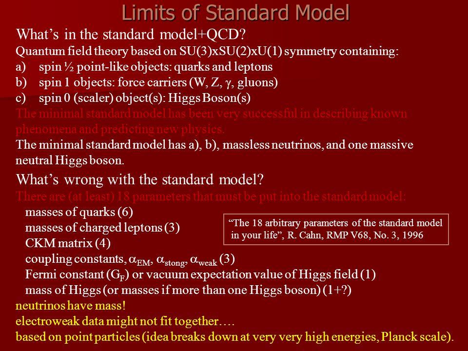 Limits of Standard Model