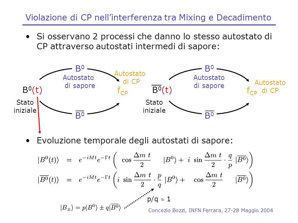 Violazione di CP nell'interferenza tra Mixing e Decadimento