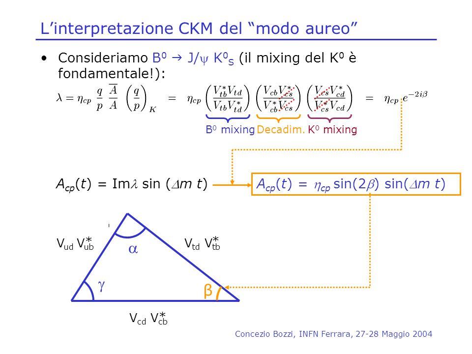 L'interpretazione CKM del modo aureo