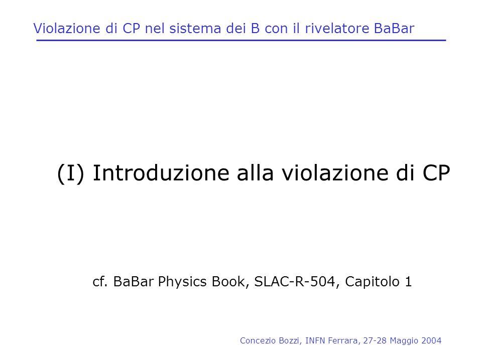 Violazione di CP nel sistema dei B con il rivelatore BaBar