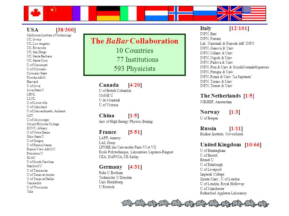 The BaBar Collaboration