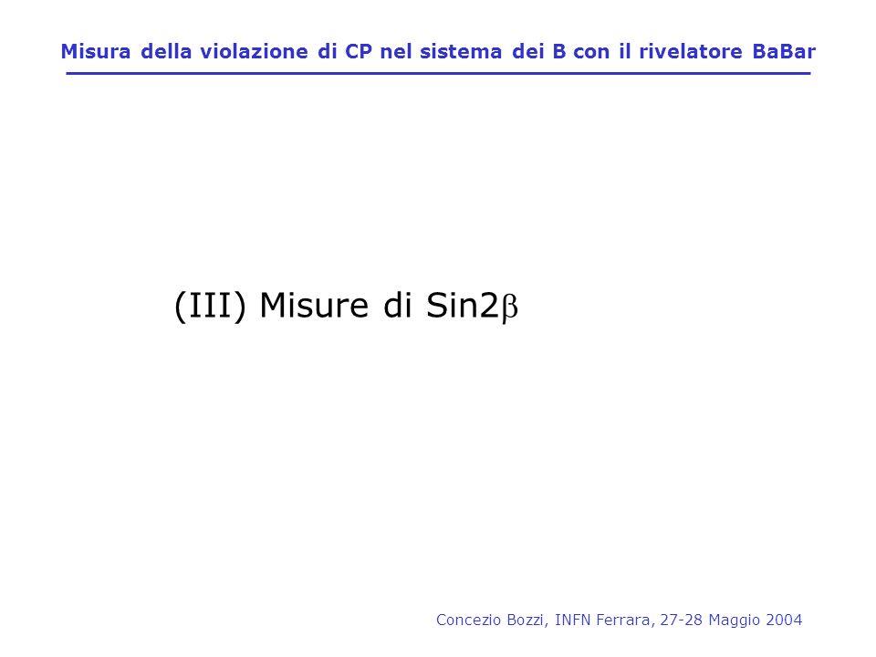 Misura della violazione di CP nel sistema dei B con il rivelatore BaBar
