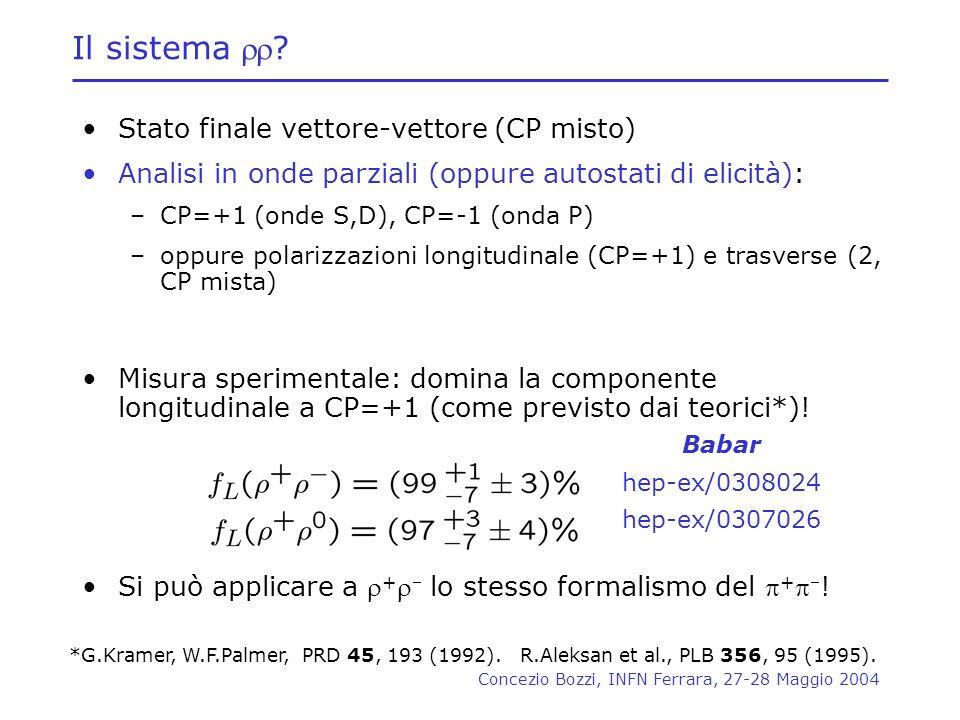 Stato finale vettore-vettore (CP misto)