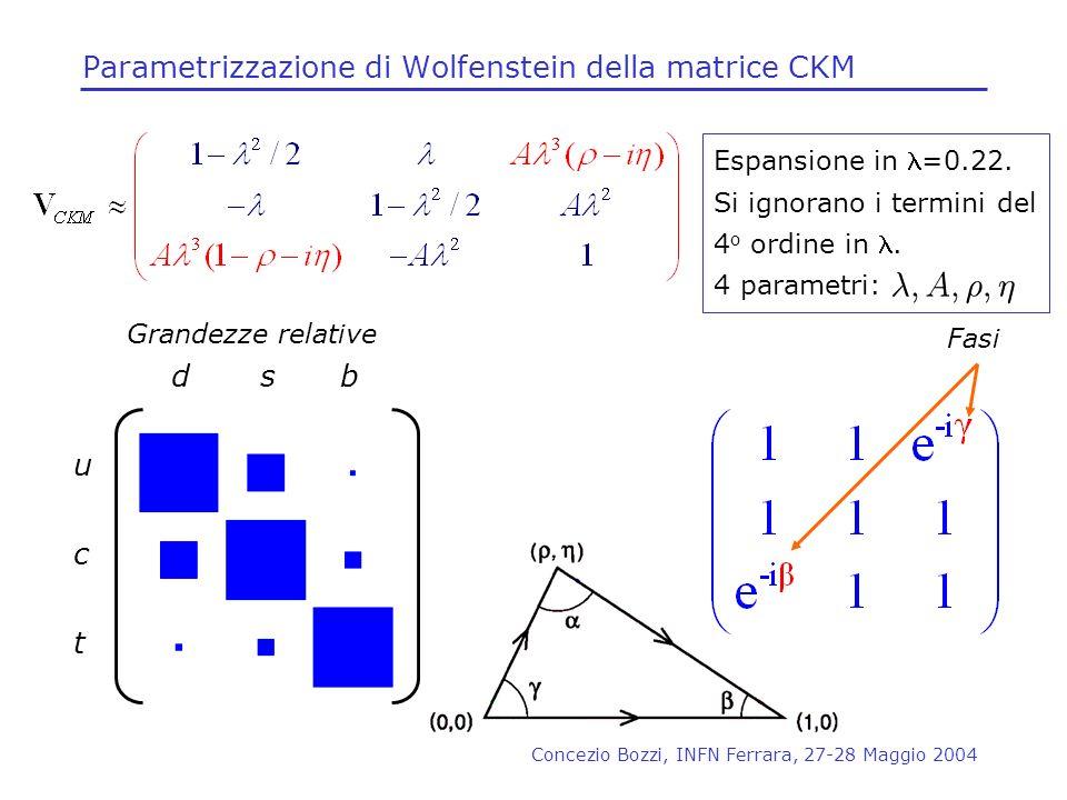 Parametrizzazione di Wolfenstein della matrice CKM