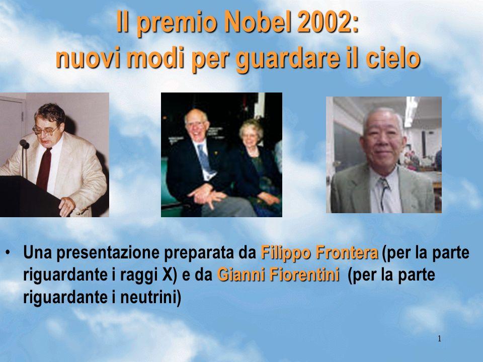 Il premio Nobel 2002: nuovi modi per guardare il cielo
