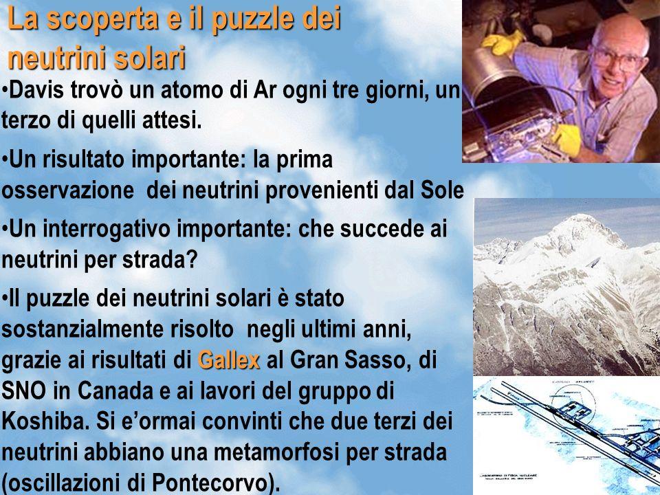 La scoperta e il puzzle dei neutrini solari