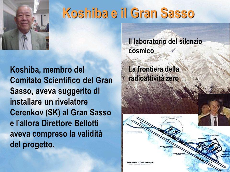 Koshiba e il Gran Sasso Il laboratorio del silenzio cosmico. La frontiera della radioattività zero.