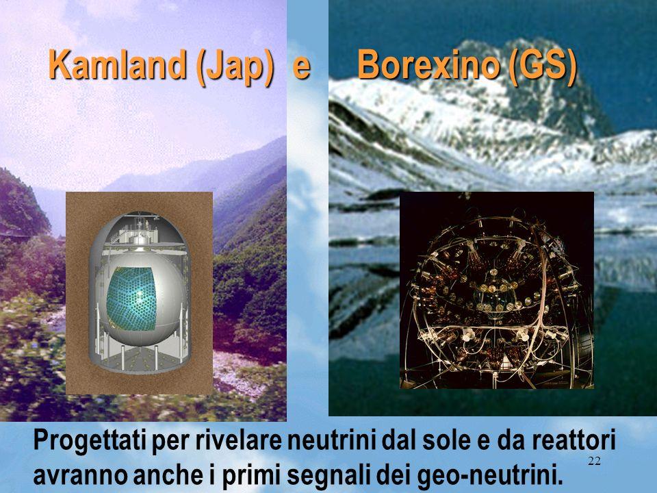Kamland (Jap) e Borexino (GS)