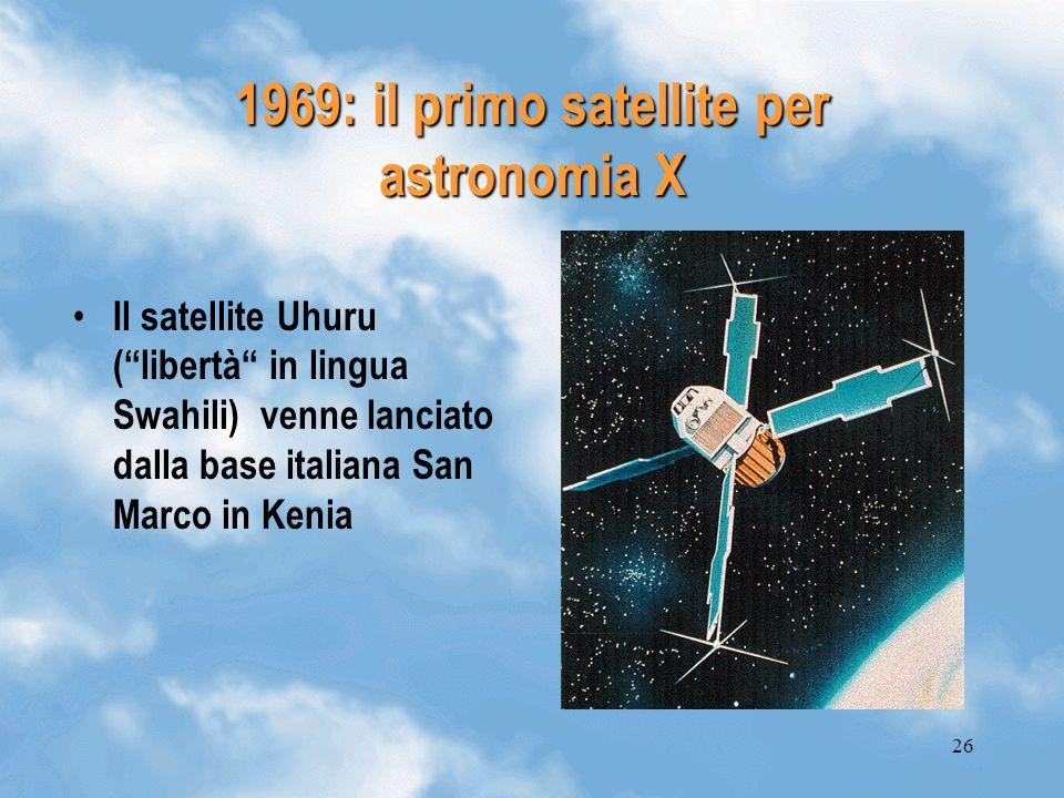 1969: il primo satellite per astronomia X