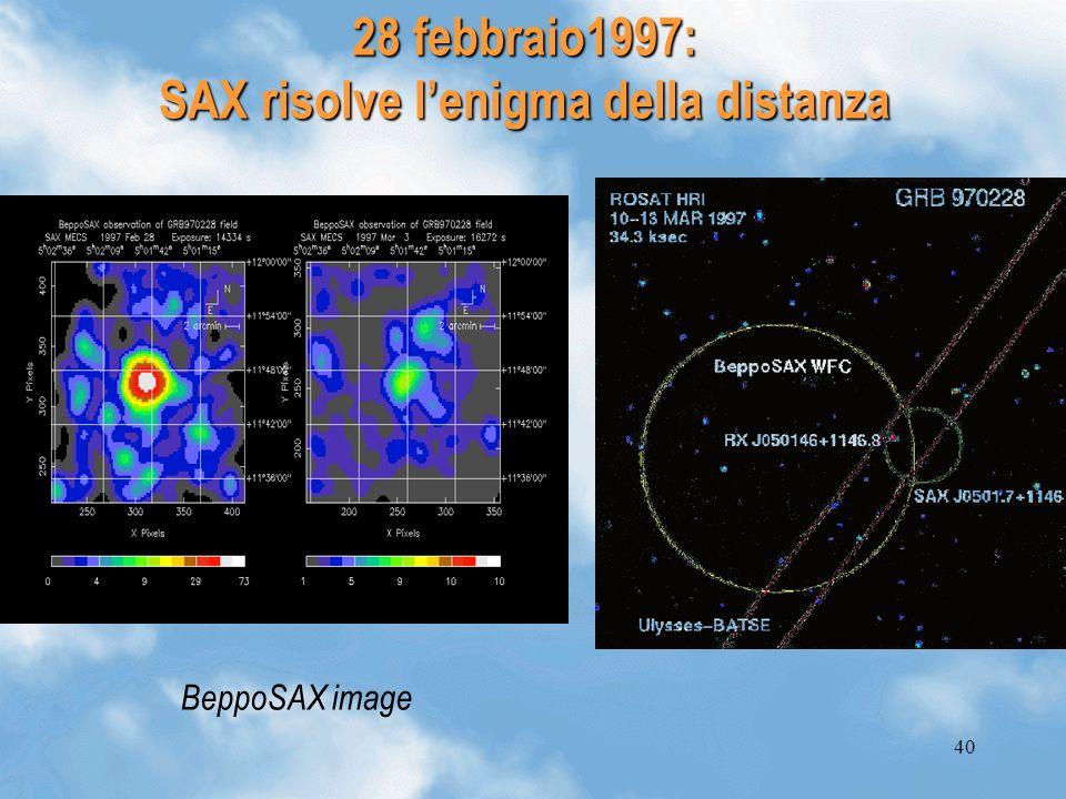 28 febbraio1997: SAX risolve l'enigma della distanza