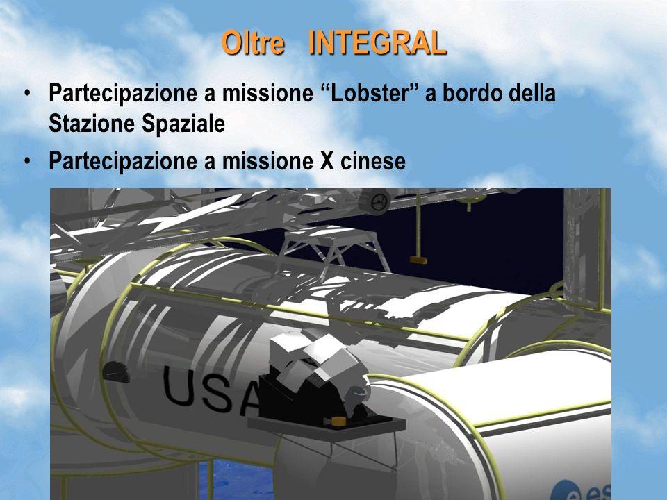 Oltre INTEGRAL Partecipazione a missione Lobster a bordo della Stazione Spaziale.