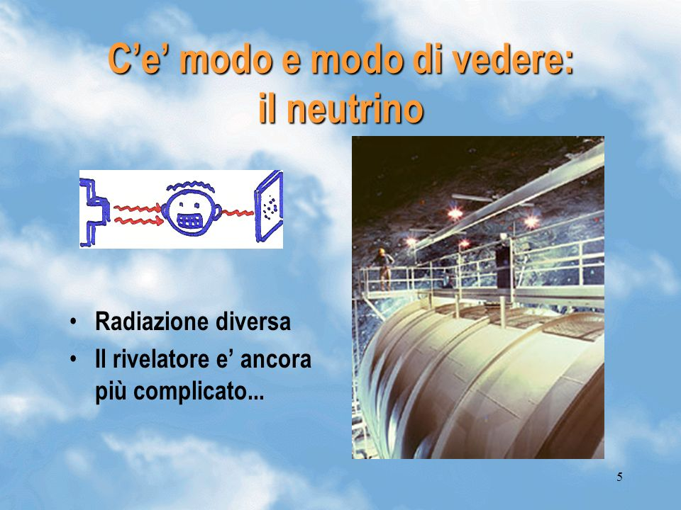 C'e' modo e modo di vedere: il neutrino