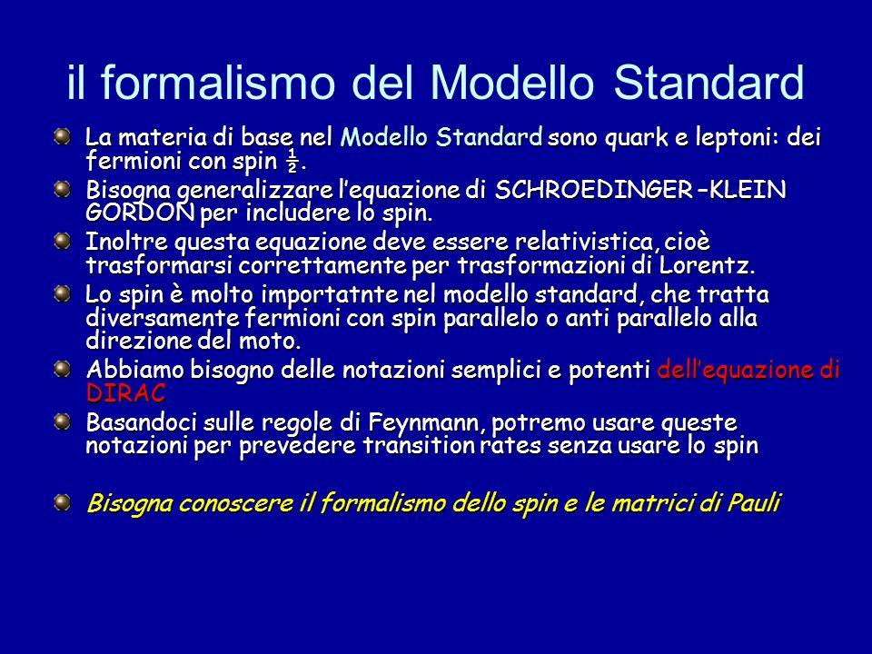 il formalismo del Modello Standard