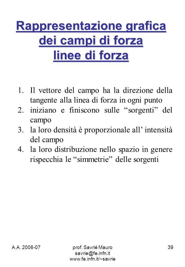 Rappresentazione grafica dei campi di forza linee di forza
