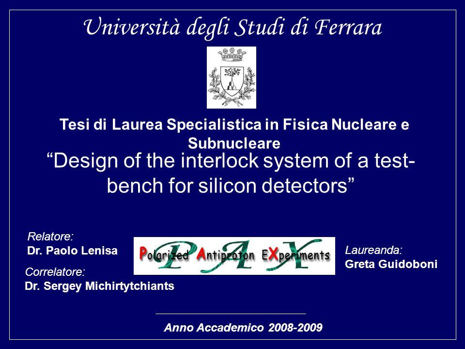 Tesi di Laurea Specialistica in Fisica Nucleare e Subnucleare