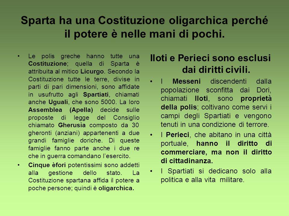 Iloti e Perieci sono esclusi dai diritti civili.