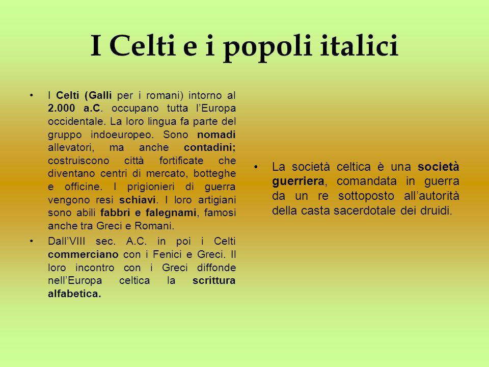 I Celti e i popoli italici