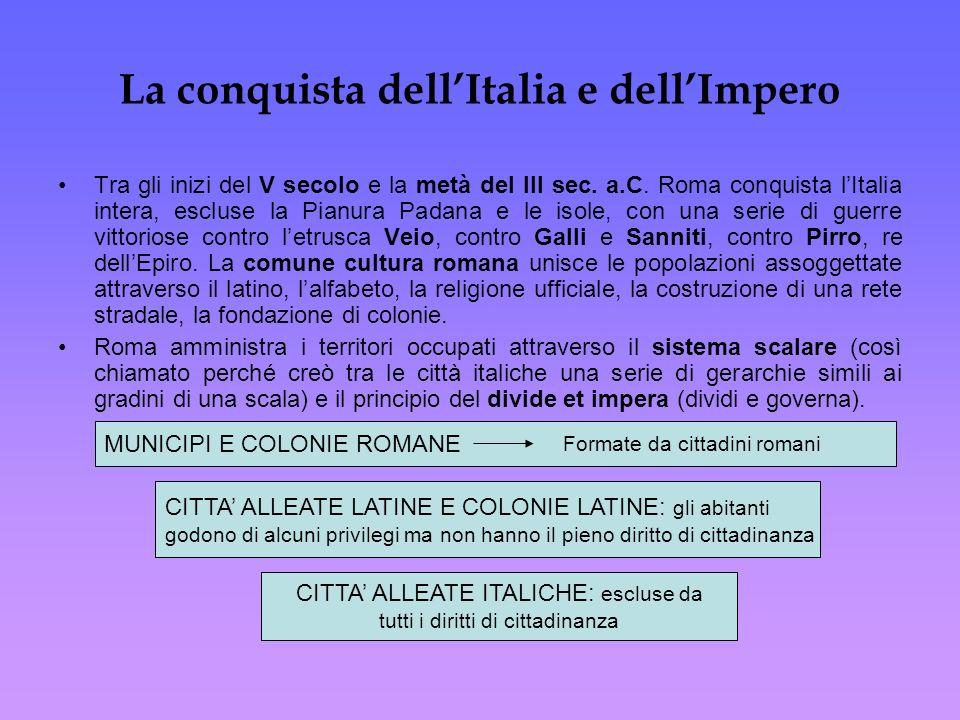 La conquista dell'Italia e dell'Impero