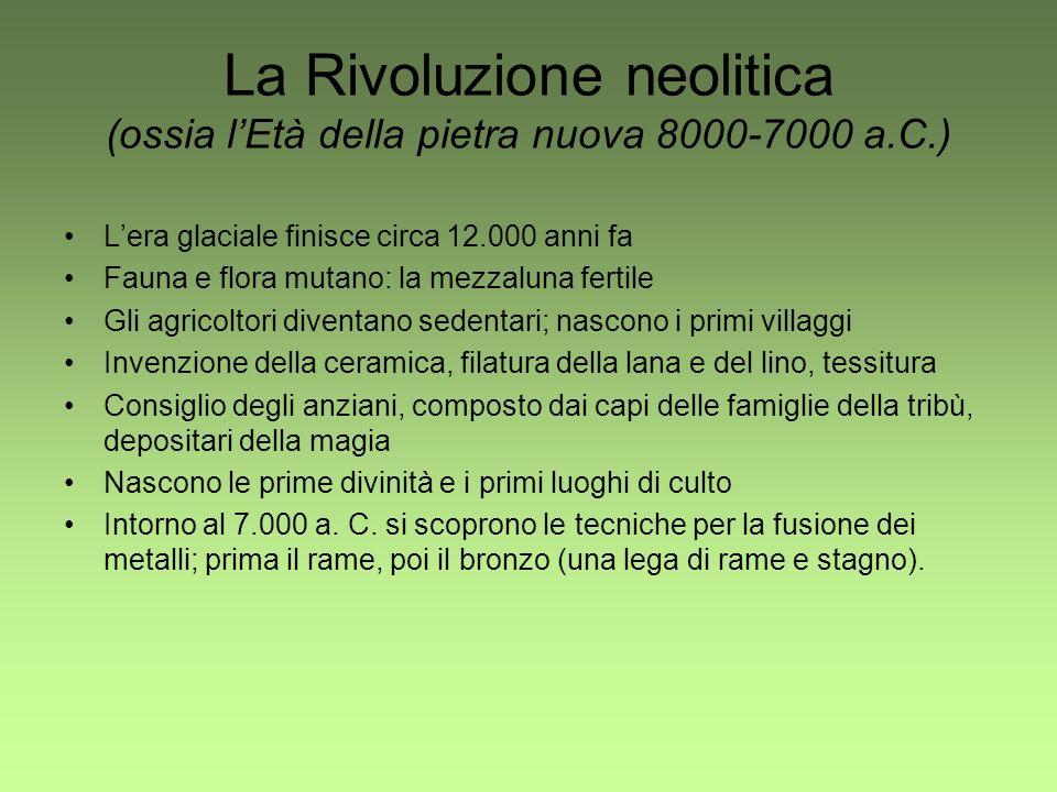 La Rivoluzione neolitica (ossia l'Età della pietra nuova 8000-7000 a.C.)