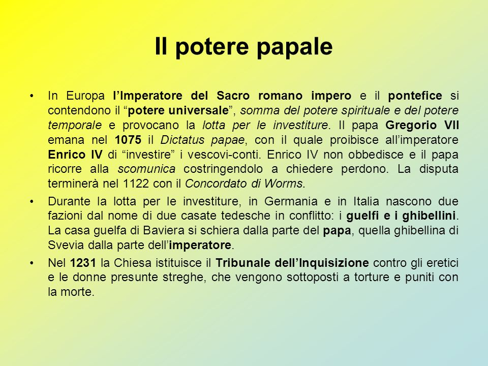 Il potere papale