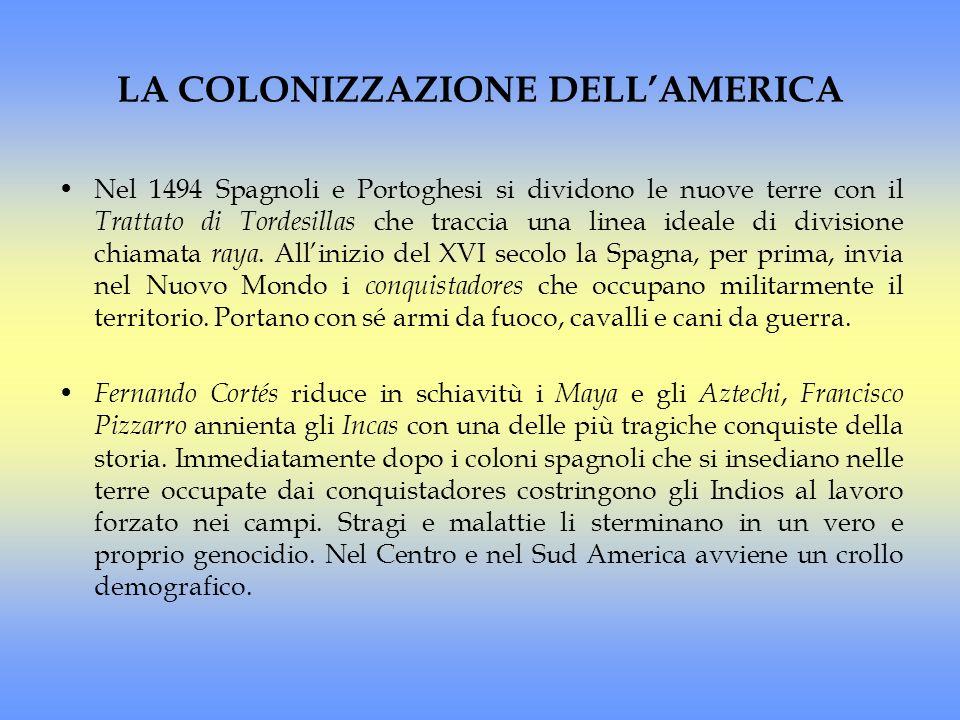 LA COLONIZZAZIONE DELL'AMERICA