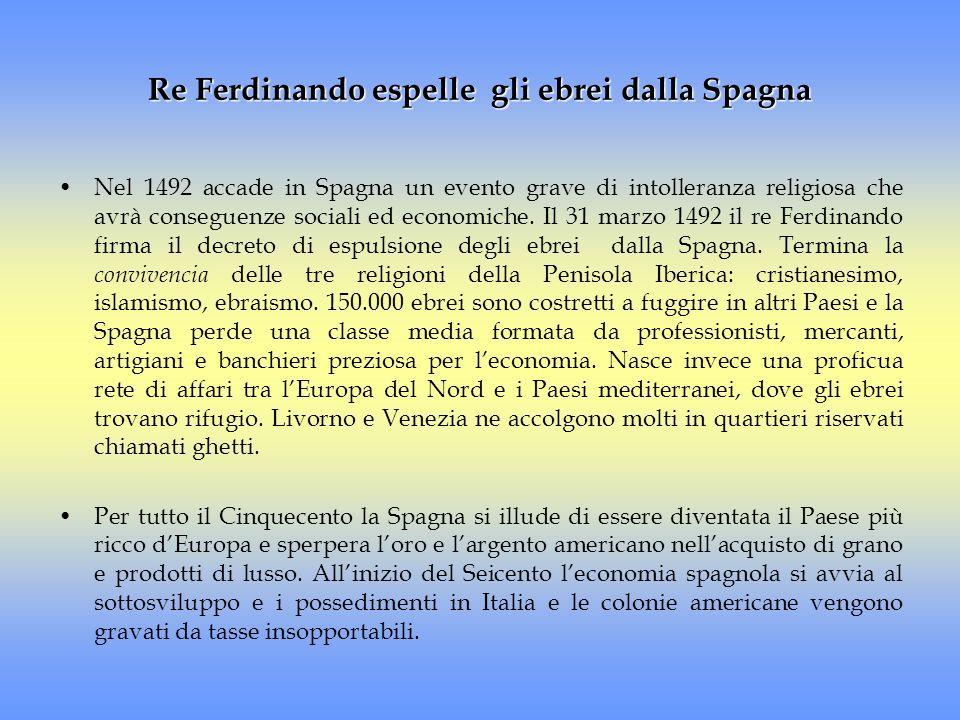 Re Ferdinando espelle gli ebrei dalla Spagna
