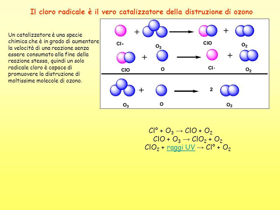Il cloro radicale è il vero catalizzatore della distruzione di ozono