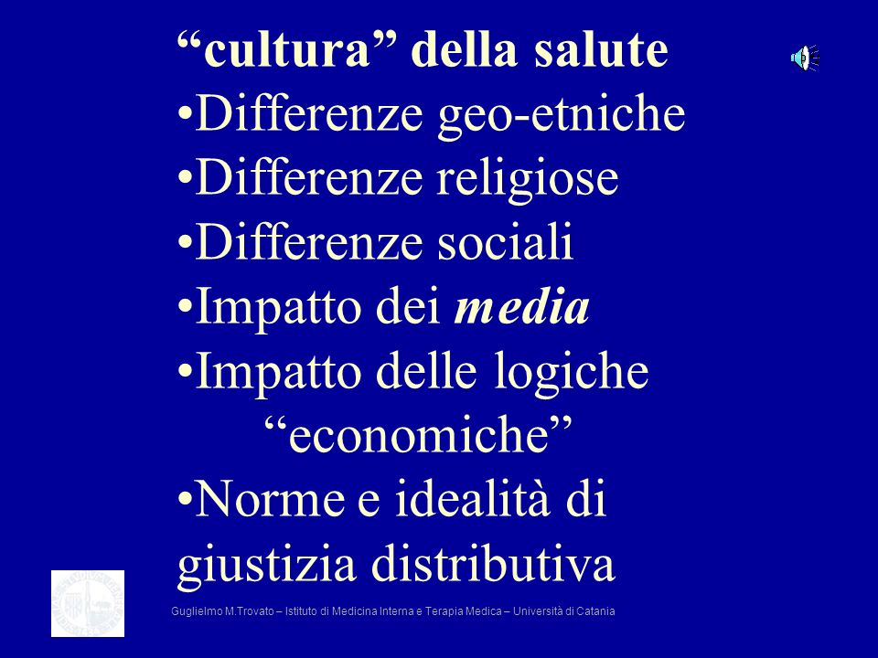 cultura della salute Differenze geo-etniche Differenze religiose