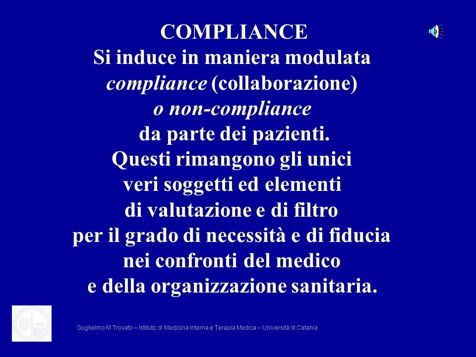 Si induce in maniera modulata compliance (collaborazione)