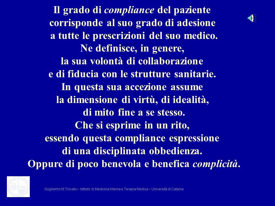 Il grado di compliance del paziente