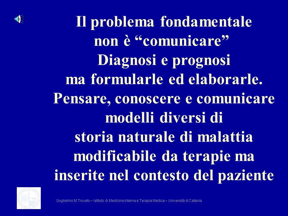 Il problema fondamentale non è comunicare Diagnosi e prognosi