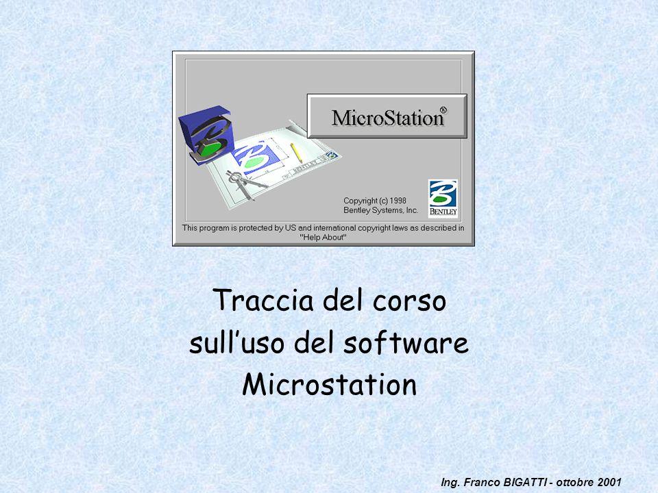 Traccia del corso sull'uso del software Microstation