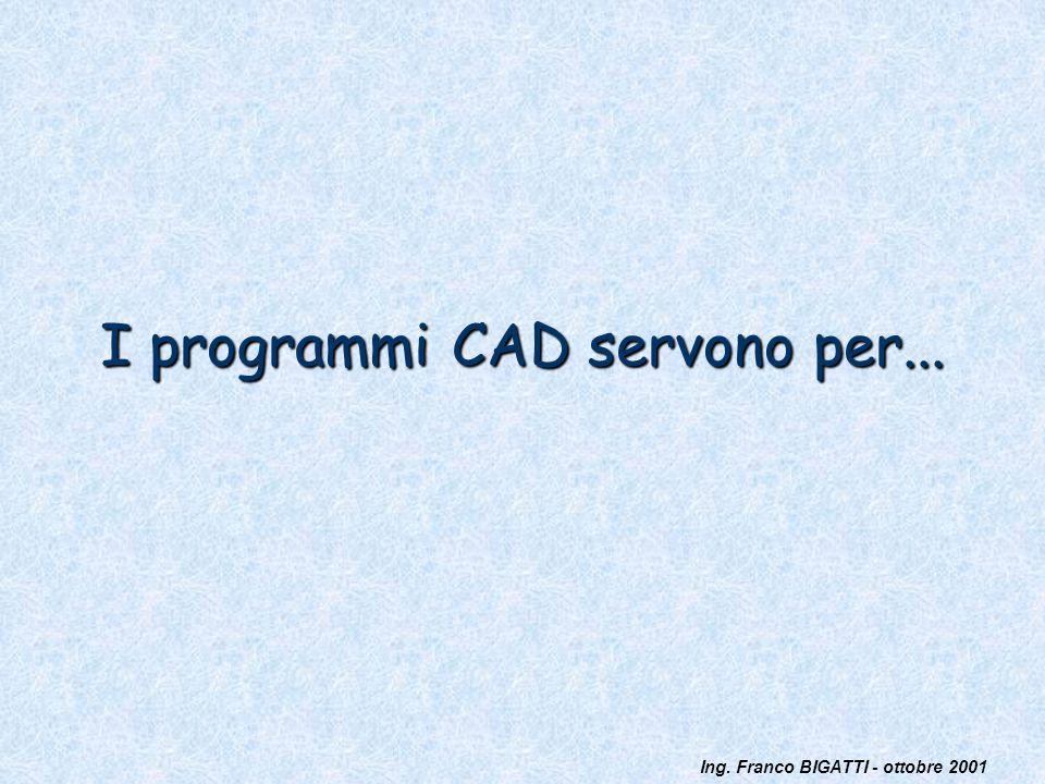 I programmi CAD servono per...