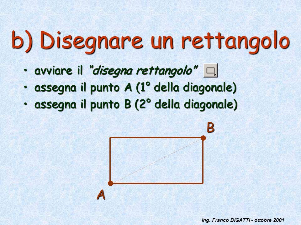 b) Disegnare un rettangolo