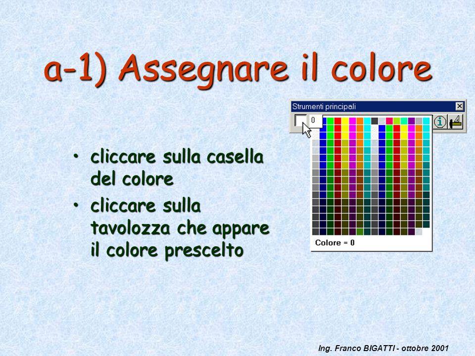 a-1) Assegnare il colore
