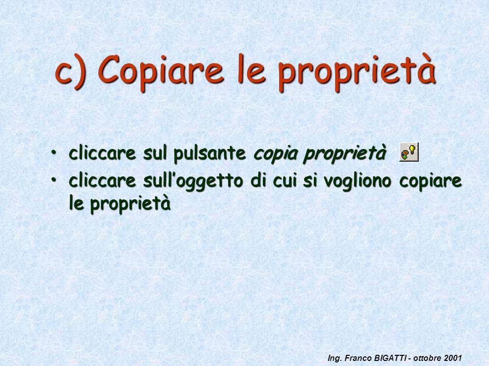 c) Copiare le proprietà