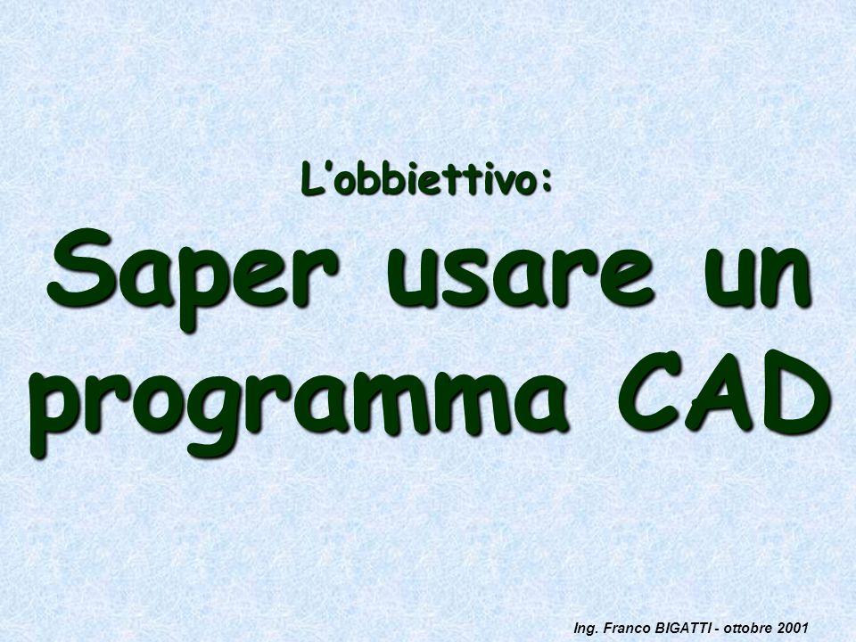 L'obbiettivo: Saper usare un programma CAD