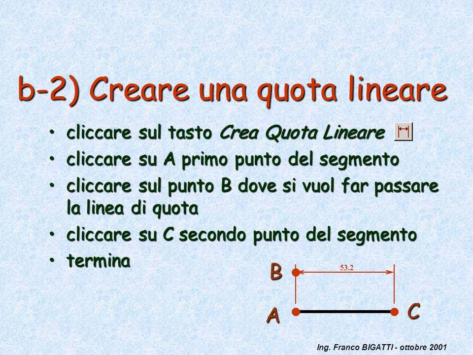 b-2) Creare una quota lineare