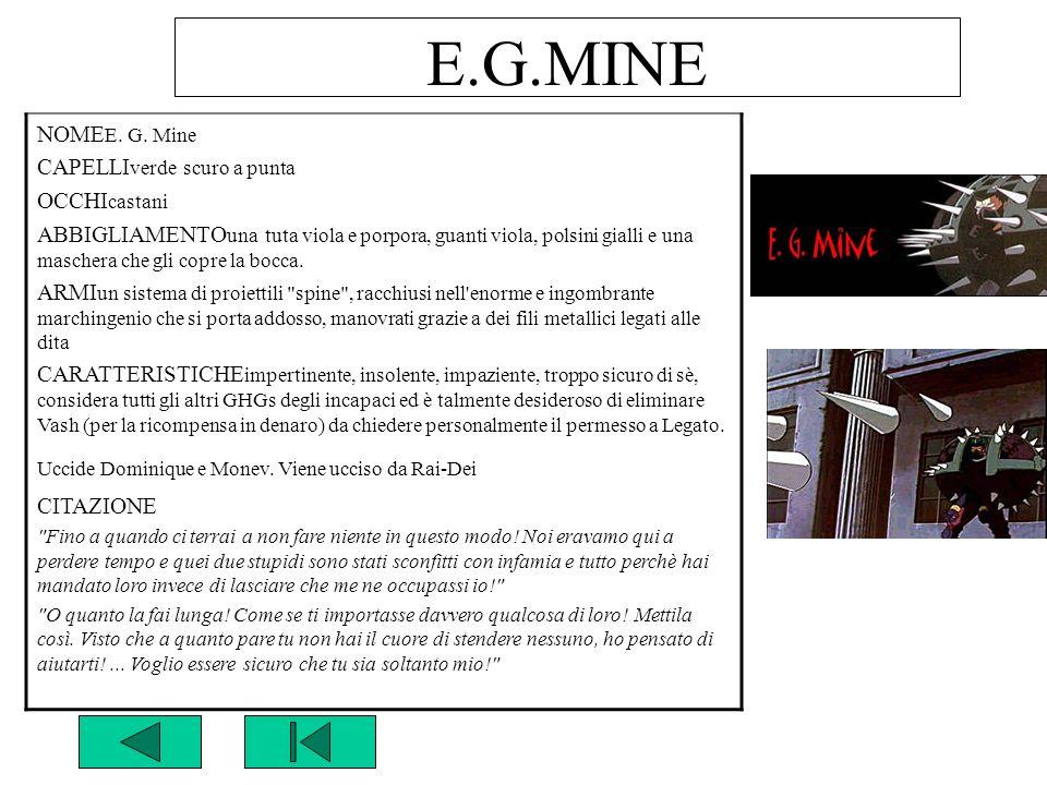 E.G.MINE NOMEE. G. Mine CAPELLIverde scuro a punta OCCHIcastani