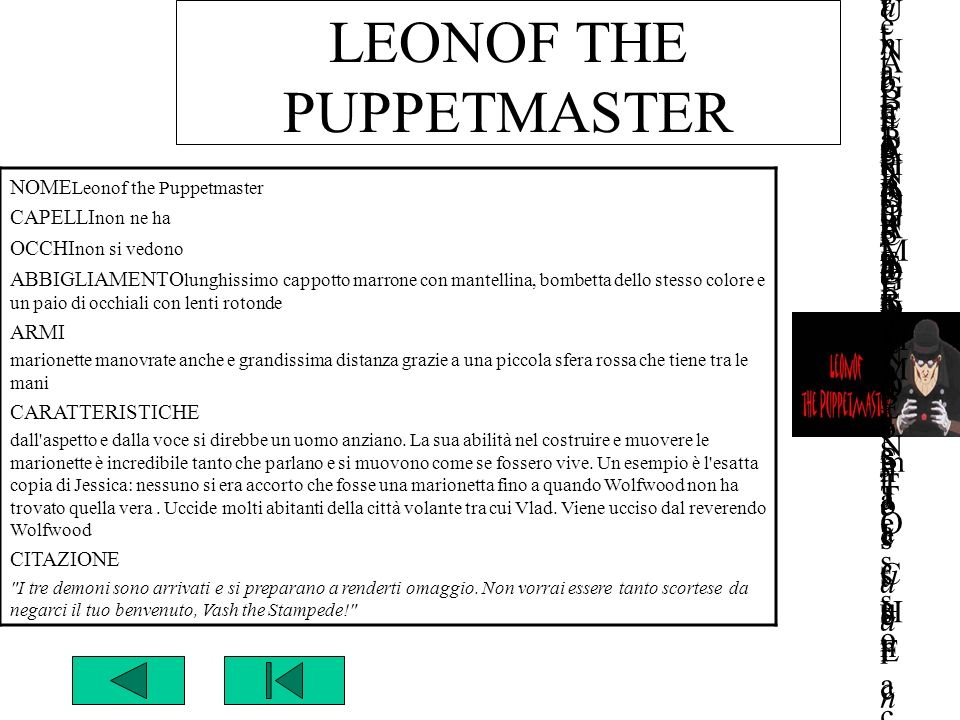 LEONOF THE PUPPETMASTER