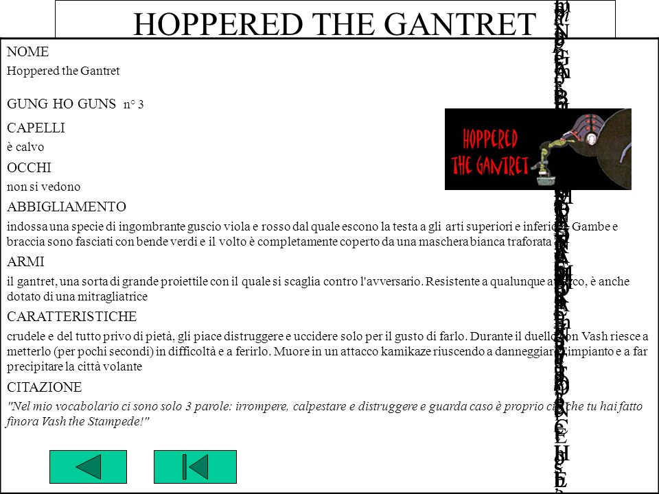 HOPPERED THE GANTRET NOME Hoppered the Gantret GUNG HO GUNS n° 3
