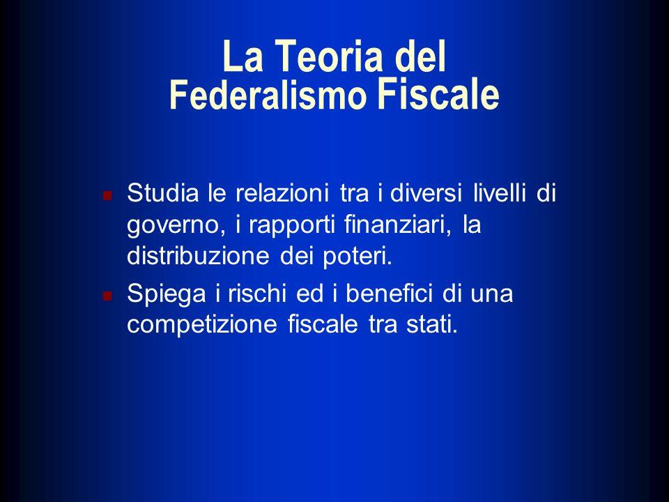 La Teoria del Federalismo Fiscale