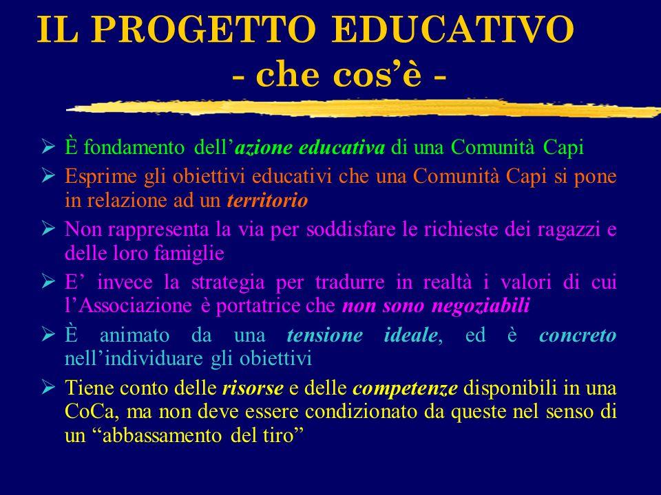 IL PROGETTO EDUCATIVO - che cos'è -