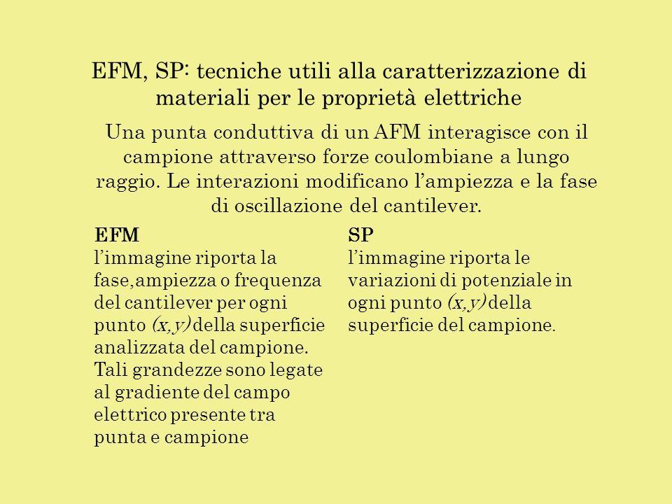 EFM, SP: tecniche utili alla caratterizzazione di materiali per le proprietà elettriche