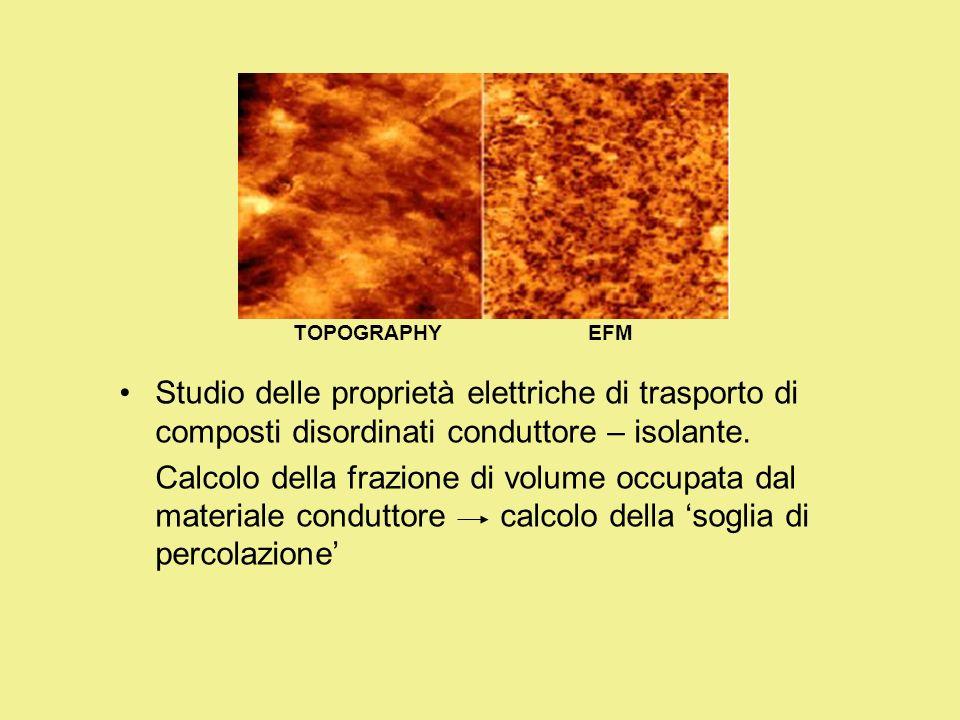 TOPOGRAPHY EFM. Studio delle proprietà elettriche di trasporto di composti disordinati conduttore – isolante.