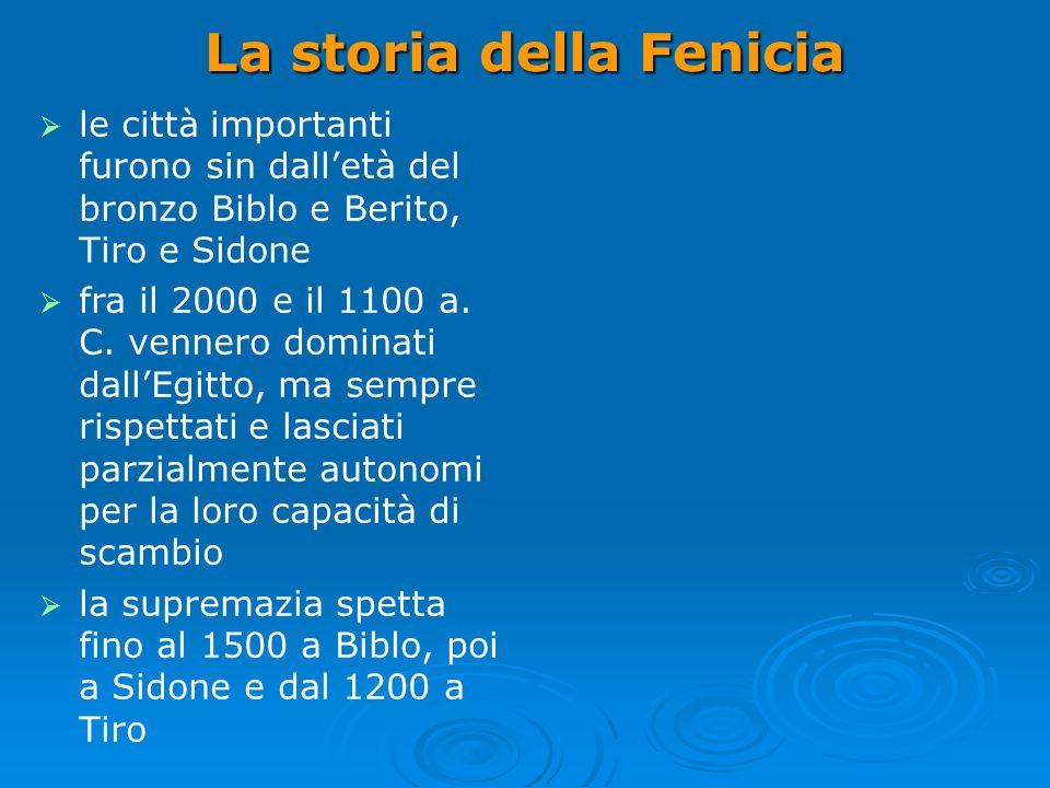 La storia della Fenicia