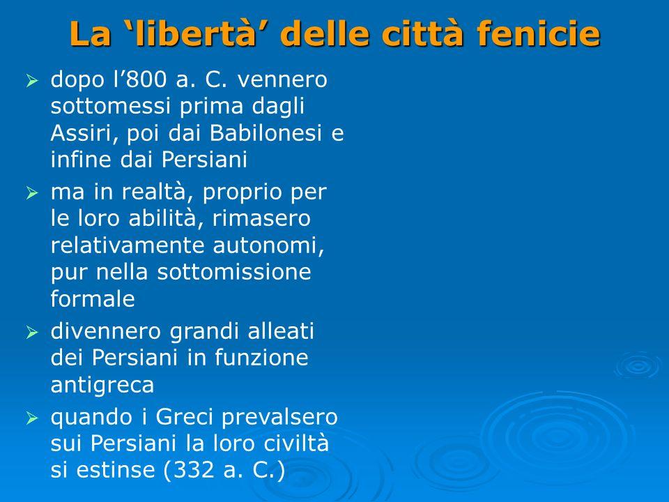 La 'libertà' delle città fenicie