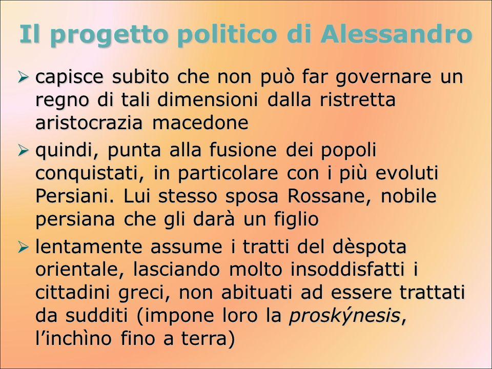 Il progetto politico di Alessandro
